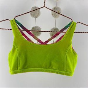 Ivvia Lululemon Sz 14 Reversble Yellow Stripe bra